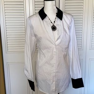 Lane Bryant 26 white black blouse NEW with tags!
